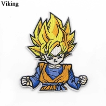 Anime Dragon Ball Cool Iron On Embroidery Patch Clothes Patches For Clothing Stickers Garment Diy Bag Accessories G0028