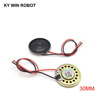 2pcs New Ultra-thin speaker 8 ohms 0.5 watt 0.5W 8R speaker Diameter 30MM 3CM thickness 5MM with PH2.0 terminal wire length 10 2pcs lot new ultra thin speaker 8 ohms 2 watt 2w 8r speaker diameter 30mm 3cm thickness 5mm with 1 25mm terminal wire length 10c
