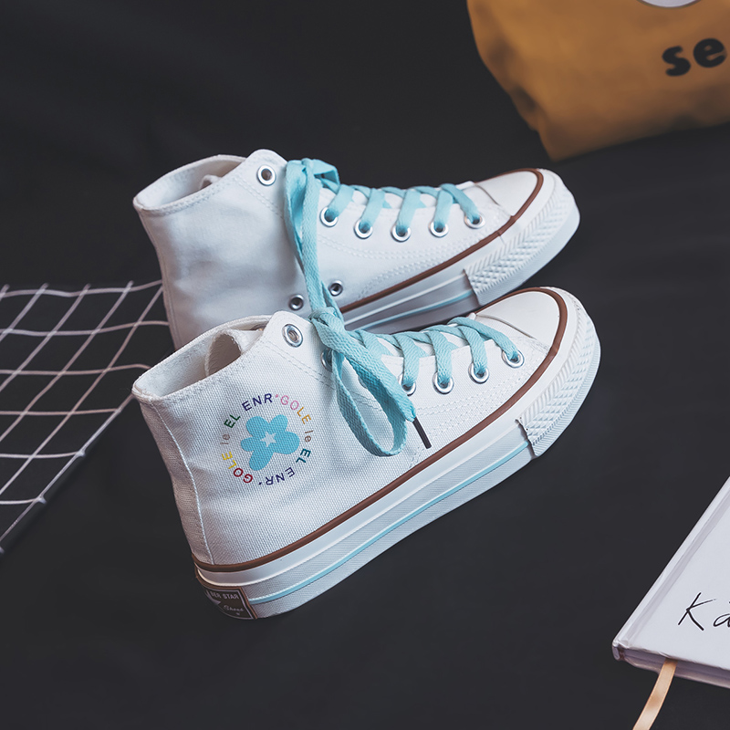 most popular innovative design release info on Girls Flower Canvas Shoes Pink Sneakers Women Casual Shoes 2019 ...