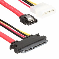 Sata 7+15p To Sata 7p M+IDE 4P Hard Disk Power Data Cable 31CM 26AWG High Speed Up To 300 MB/Seconds