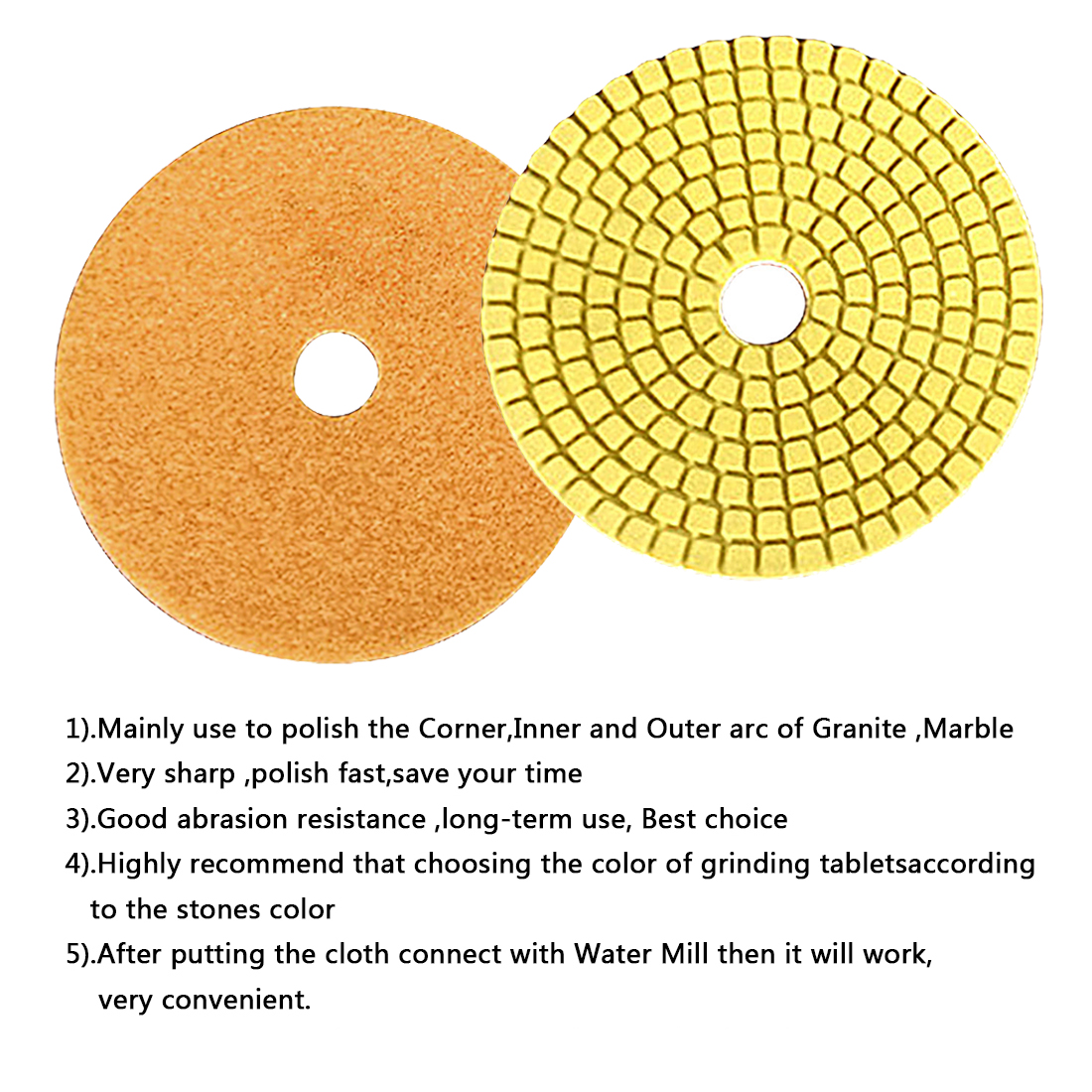 Grinding Discs 100*4mm Wet Diamond Polishing Pad For Glass Granite Marble Stone Grinding Wheel Flexible Sandpaper