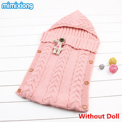Winter Newborn Sleeping Bags Autumn Knitted Baby Stroller Swaddle Wrap Blankets Warm Infant Bebe Sleep Sack Envelopes 0-12Months