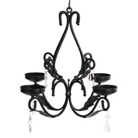 GiveU Lighting Metal Ceiling Chandelier Candlesticks Wall Sconces, Living Room and office Decoration gift for housewife