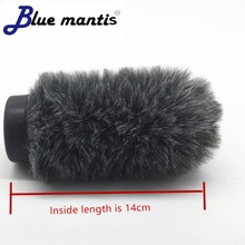 цены Fur Windscreen Furry Windshield Muff for Rode NTG1 NTG2 Condenser Microphone Wind Shield Protection Outdoor Interview Mic 14cm