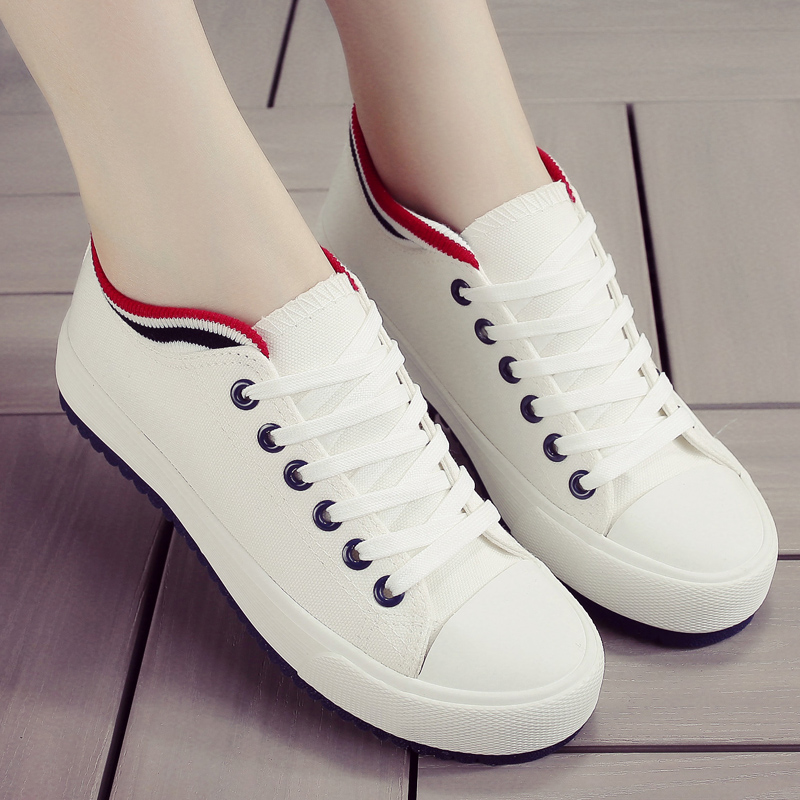 Women White Casual Shoes Summer 2018 Canvas Women Shoes Espadrilles Vulcanized Sneakers Fashion Breathable Flats