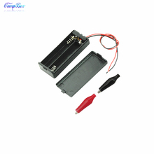 50Pcs 2xAAA Battery Case Holder Socket Wire Junction Boxes With Wires, Switch&Cover, Black+Red Crocodile Alligator Clip