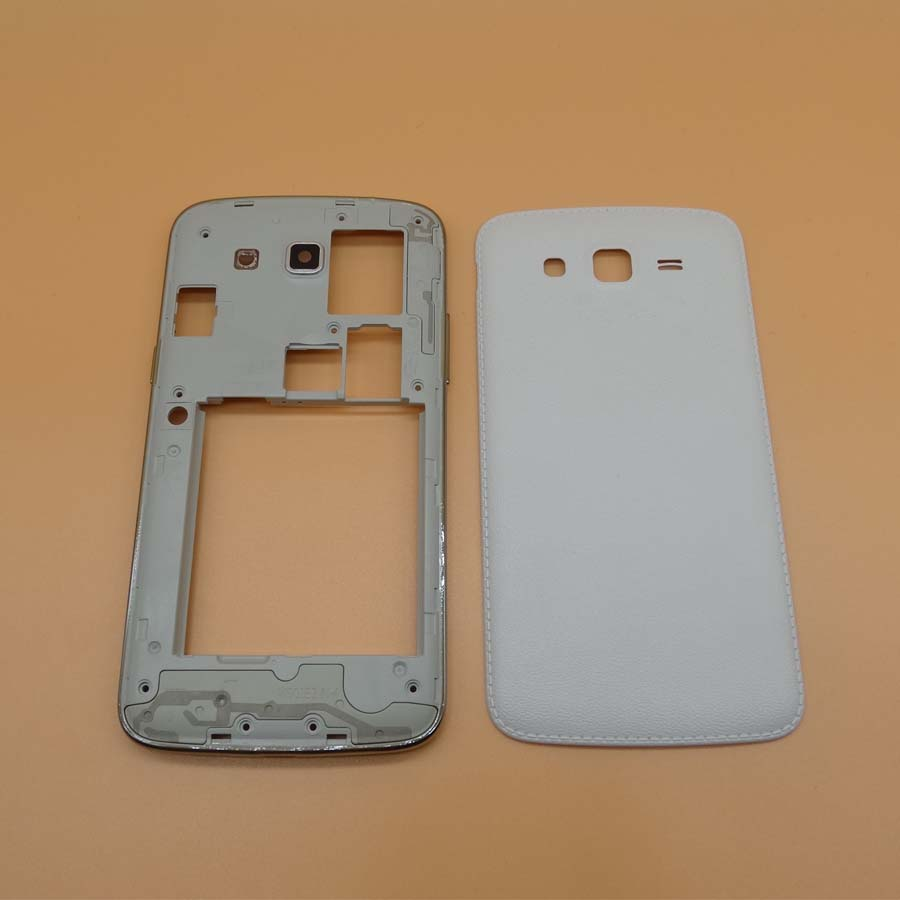 Original Rear Back Housing <font><b>Case</b></font> For <font><b>Samsung</b></font> Galaxy <font><b>Grand</b></font> <font><b>2</b></font> <font><b>G7102</b></font> G7106 Middle bezel & Power Volume Key & Battery Door Cover logo image