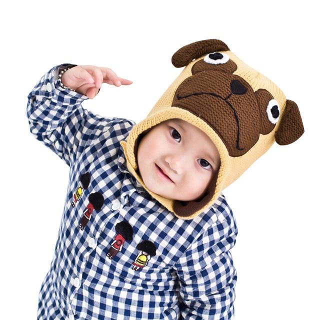 Hund Winter Baby Hut Häkeln Fleece Warme Mütze Für Jungen Mädchen