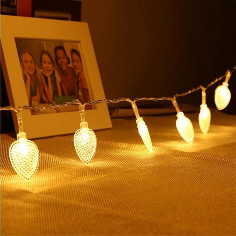 3M 20LED Waterproof  Heart LED String Lights Valentine Love Heart Decor Props Romantic Christmas Wedding Party Decor