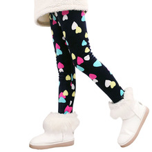Children Pants Autumn Winter Baby Leggings Colorful Print Flower Butterfly Love Girls Pants