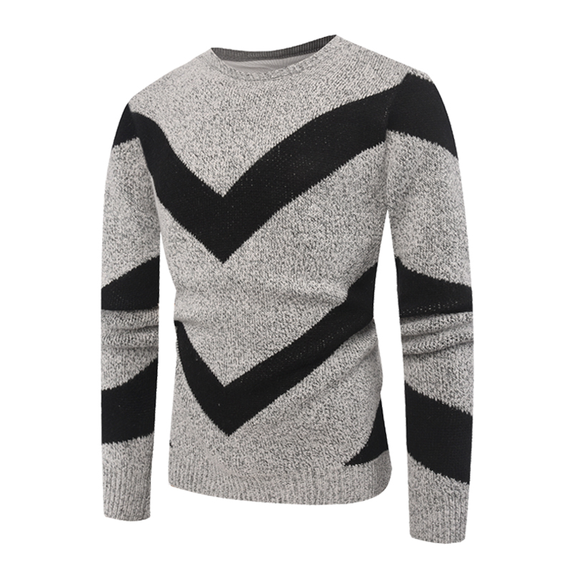 Fashion Striped Sweater Men 2018 Autumn Winter Knitted Sweater Mens O-neck Long Sleeve Casual Sweater Pullover Jersey Hombre