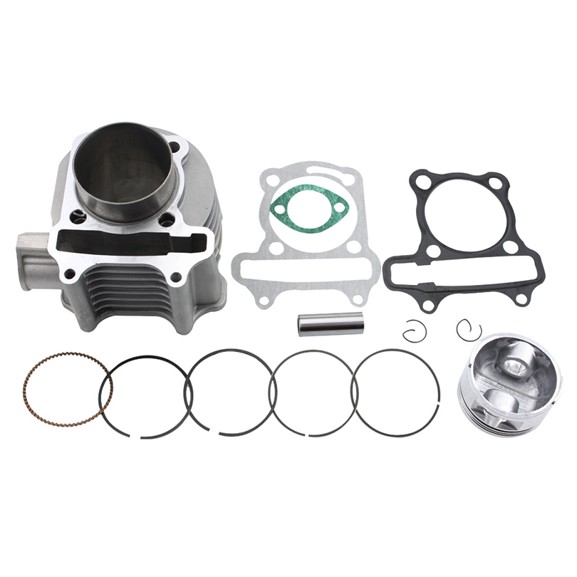 GOOFIT 57.4mm Bore Cylinder Rebuit Kit for GY6 150cc ATV, Go Kart, Mope Cylinder Body Assembly K074-062 90cc cylinder body kit