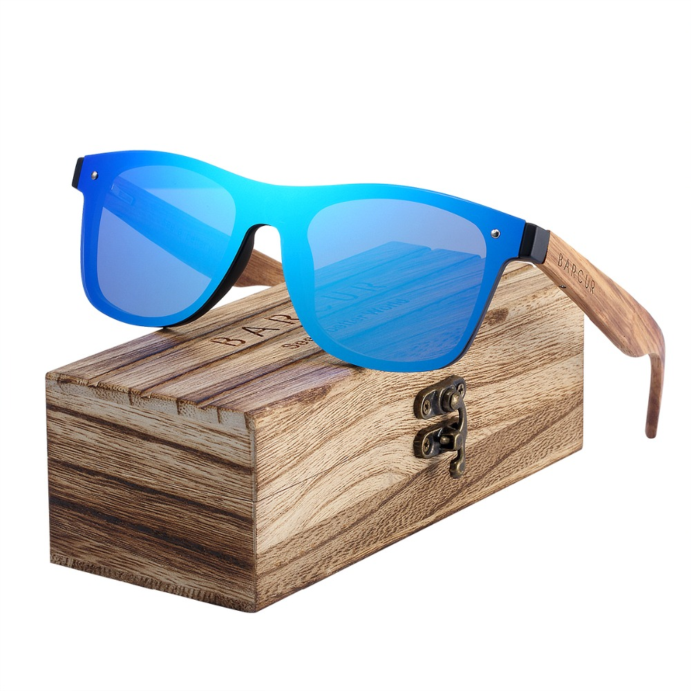 BARCUR Trend Stili Senza Montatura Occhiali Da Sole In Legno Uomini Cornice di Piazza Delle Donne Occhiali Da Sole Oculos Gafas