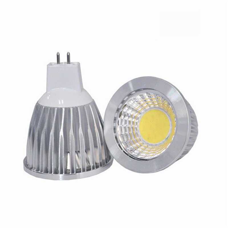 Высокая Мощность лампада Led MR16 GU10 COB 9 W 12 W 15 W cob-светодиоды с регулируемой яркостью Spotlight Теплый Холодный белый MR16 GU10 12 V 110 V 220 V лампа
