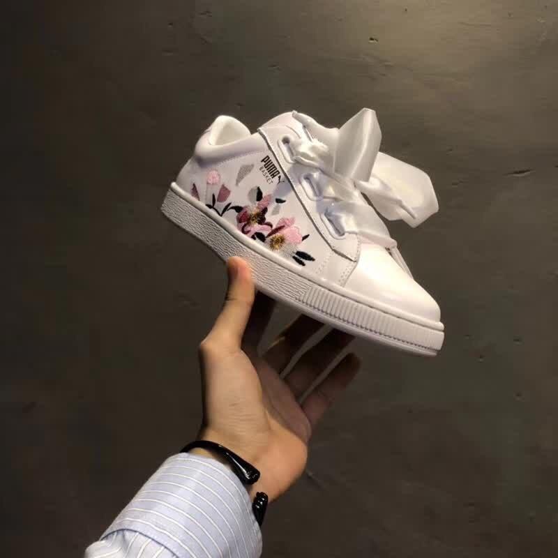 7a67c28fb29e4e 2018 Original New Arrival PUMA Suede Heart Womens Sneakers Badminton Shoes  Size36-39
