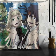 New Arrival Blue Exorcist Shower Curtain Polyester Fabric Printing Bathroom Curtain Waterproof Bathroom Products With Hook(China)