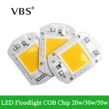 High luminous flux IP65 LED COB chip 20w 30w 50w Smart IC Integrated Driver Fit for DIY Led floodlight AC110v 220-240v warm/cool