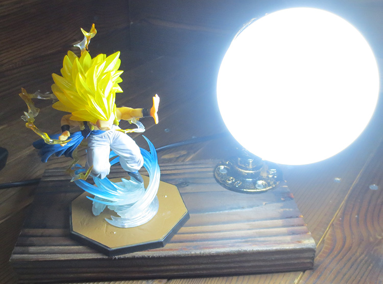 KNL HOBBY Dragon Ball LED desk lamp explosion models do Gotenks hand over three led Eye  ...