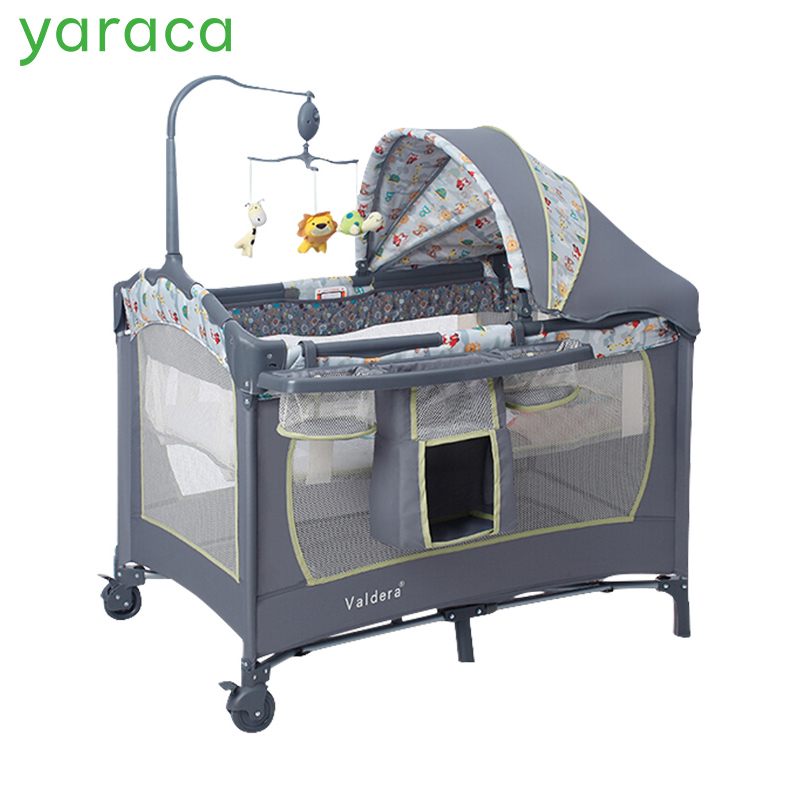 Baby Bed Multifunctional Portable Crib For Kids Light-weight Folding Game Beds Baby Cradle Infant Playpen Size 110*76cm