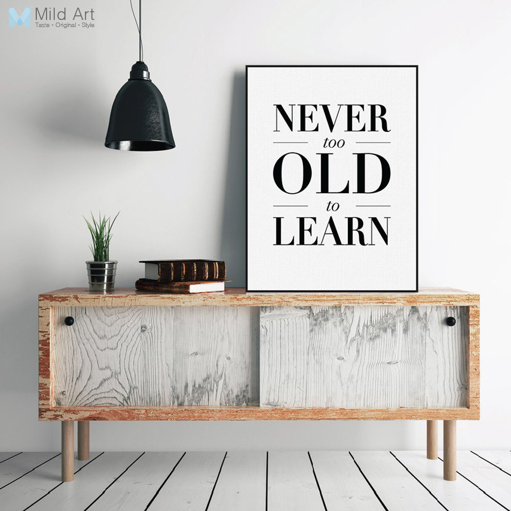 Modern Lighting Quotes Us 3 71 47 Off Modern Minimalist Black White Inspirational Typography Quotes Poster Print Wall Art Living Room Canvas Painting Home Decoration In