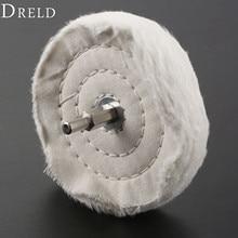 "DRELD 1Pc Dremel Accessories 100mm /4""  Cloth Polishing Mop Brush Drill Buffing Grinding Wheel Pad 1/4"" Shank for Metal Jewelry"