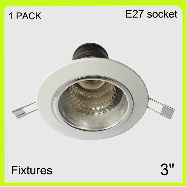Manufacturer 1 pack aluminum recessed mounted 3 led down light manufacturer 1 pack aluminum recessed mounted 3 led down light fixture not included led bulbs aloadofball Image collections