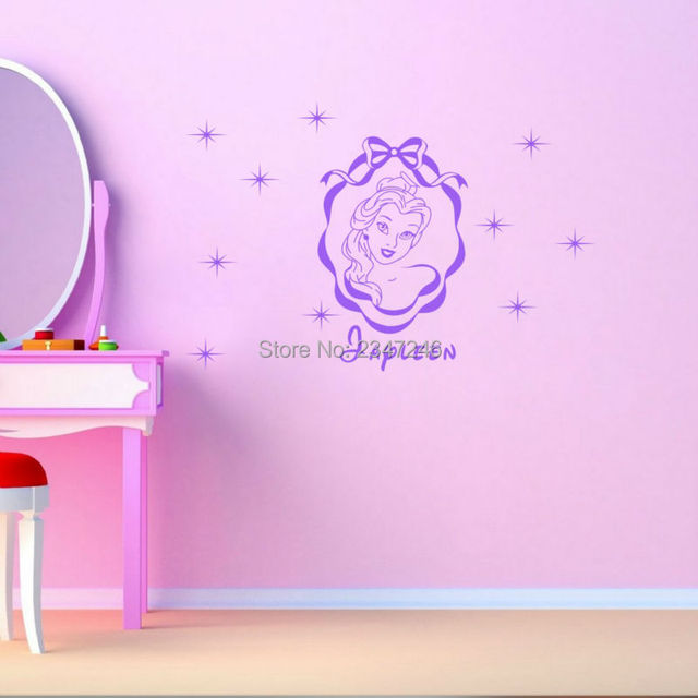 Princess Custom Name Wall Decal DIY Stars Decoration Vinyl - Diy custom vinyl stickers