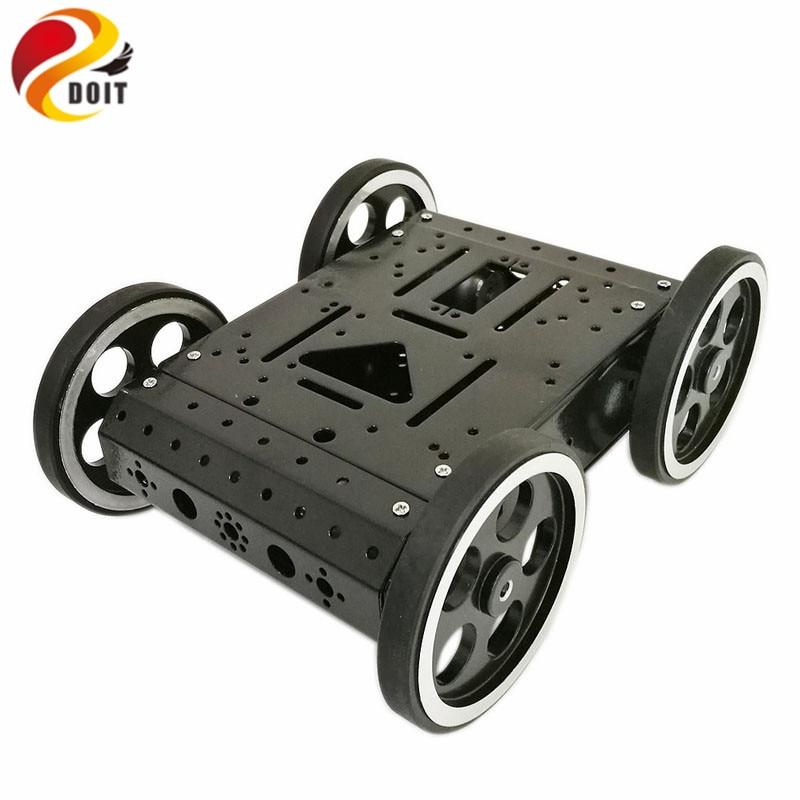 DOIT C3 4WD Smart Robot Car with High Hardess of Steel, 4pcs DC 12V Motor, 95mm Steel Wheel, High Loading Capacity DIY RC Toy цена