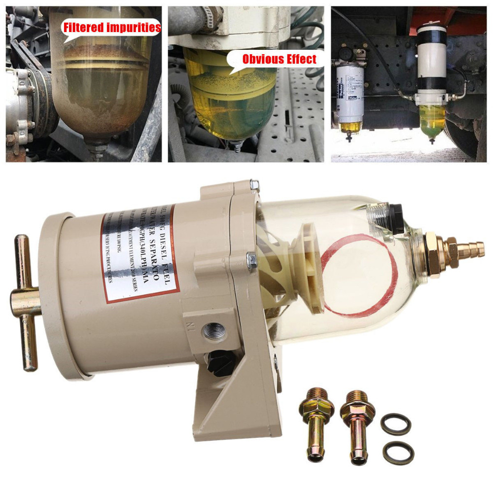 500FG(500FH ) Diesel Engine Fuel Water Separator Assembly include 2010PM, Fuel Filter Water Separator Racor Filter r12t with bowl replacement fuel water separator filter diesel engine for racor parker