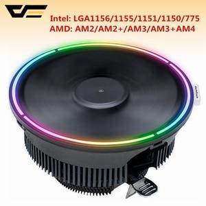 Image 2 - Чехол для компьютера darkFlash Aigo кулер для процессора Алюминиевый 12 В кулер для процессора охлаждающий вентилятор для Intel AM2/AM3/AM4