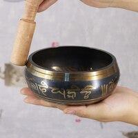 Тибетский чаша Поющая чаша непальская тибетско-буддистские пения, Йога, медитация чаша буддийские звуковой терапии чаша Медь Религия Carft