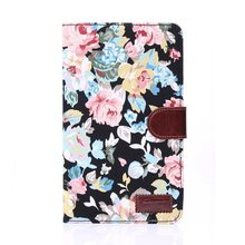 Flower Canvas Leather Cases for Samsung Galaxy Tab 4 7.0 T230