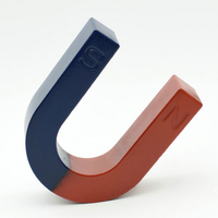 1pc Toy Experiment Magnet U Type 100x85x32 mm Horseshoe 3.4kg Pulling blue red / Toy magnet Magnetic Teaching Tool