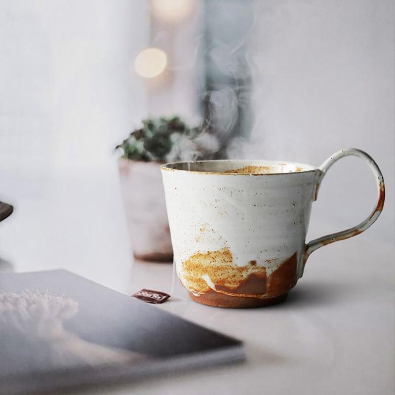 handmade coffee mug high quality ceramic cup with handgrip