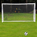 1.8 m x 1.2 m Tamaño Completo de Fútbol Net 6 x 4FT Cordeles De Polietileno Portería de fútbol Blanco Post Nets Fútbol Portería Nets For Kids Niños