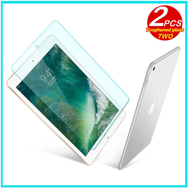 цена на Tempered Glass membrane For Apple iPad 9.7 inch New 2017 Steel film Tablet Screen Protection Toughened for iPad9.7 A1822 3 Case