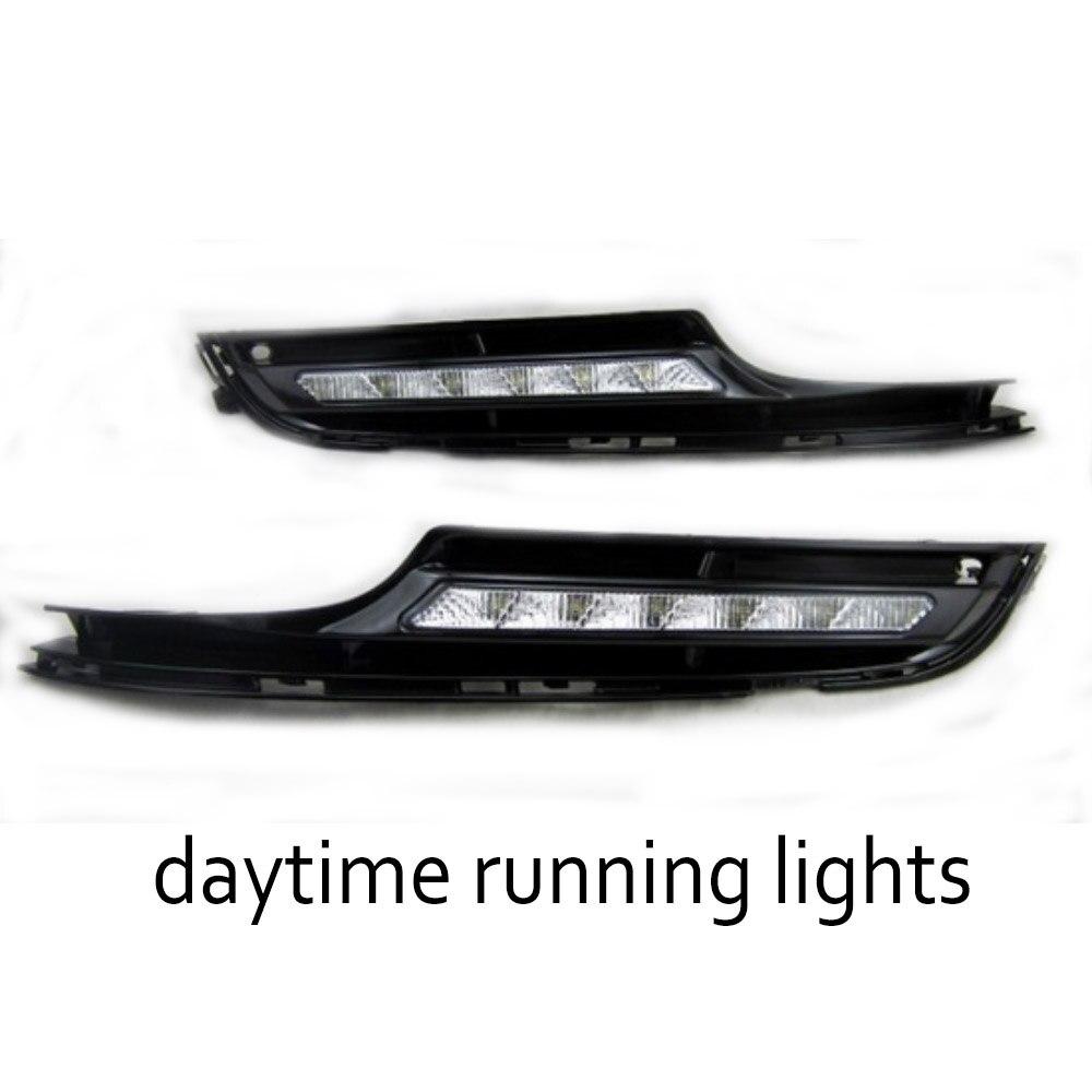 DRL Run lamp car styling For V/olkswagen G/olf 7 2014-2015 White LED Daytime Tube Day Fog Light