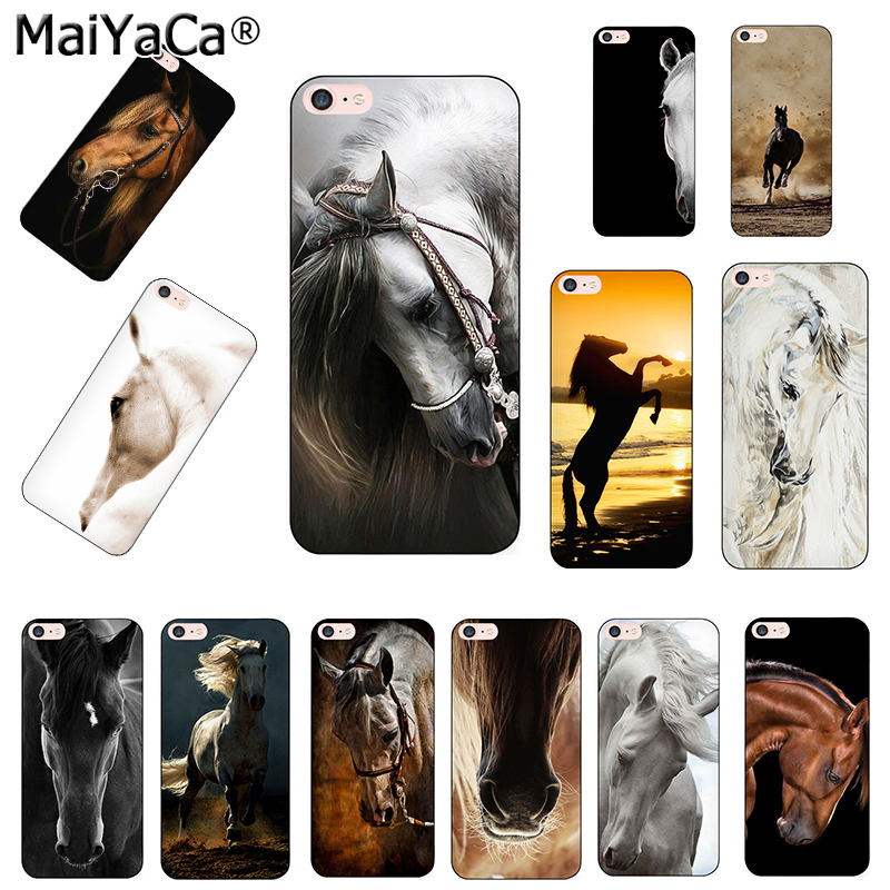 MaiYaCa Horse Animal Printed Coque Cover Phone case For