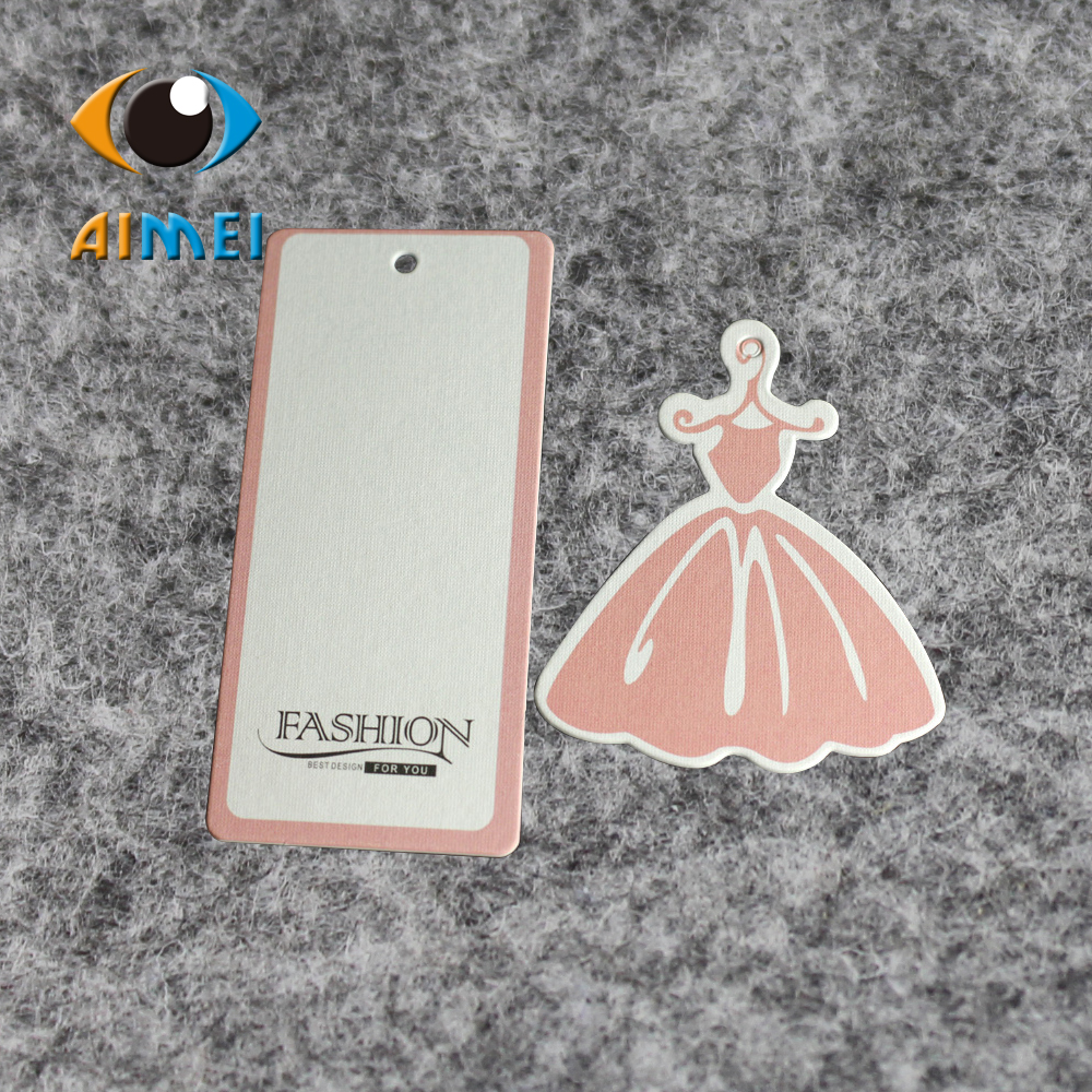 Free Design & Free Shipping customized 500pcs/lot 400gsm paper hang tag/clothing swing tag/labels/garment/bag printed tagsGT014