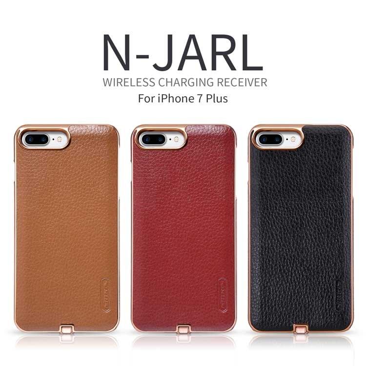 imágenes para Nillkin N-JARL Para iPhone 7 Plus 5.5 ''receptor cargador inalámbrico qi de carga del Transmisor receptor de energía cubierta
