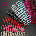New Arrival 120pcs Short False Nails Full Cover 9 Color Fake Nails ABS Artificial Tips Nail Art Decorations Women Made up