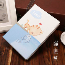 купить for case ipad 2018 2017 Cute Cartoon Folio Stand Smart Cover Auto Wake Up/Sleep For ipad Air 1 Air 2 case Flip Stand Shell дешево
