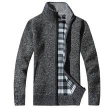 2018 Fashion Mens Wool Cardigan Sweaters Men'S Thick Stand Collar Pullover Korean Full Sleeves Slim Solid Mens Sweaters 3XL
