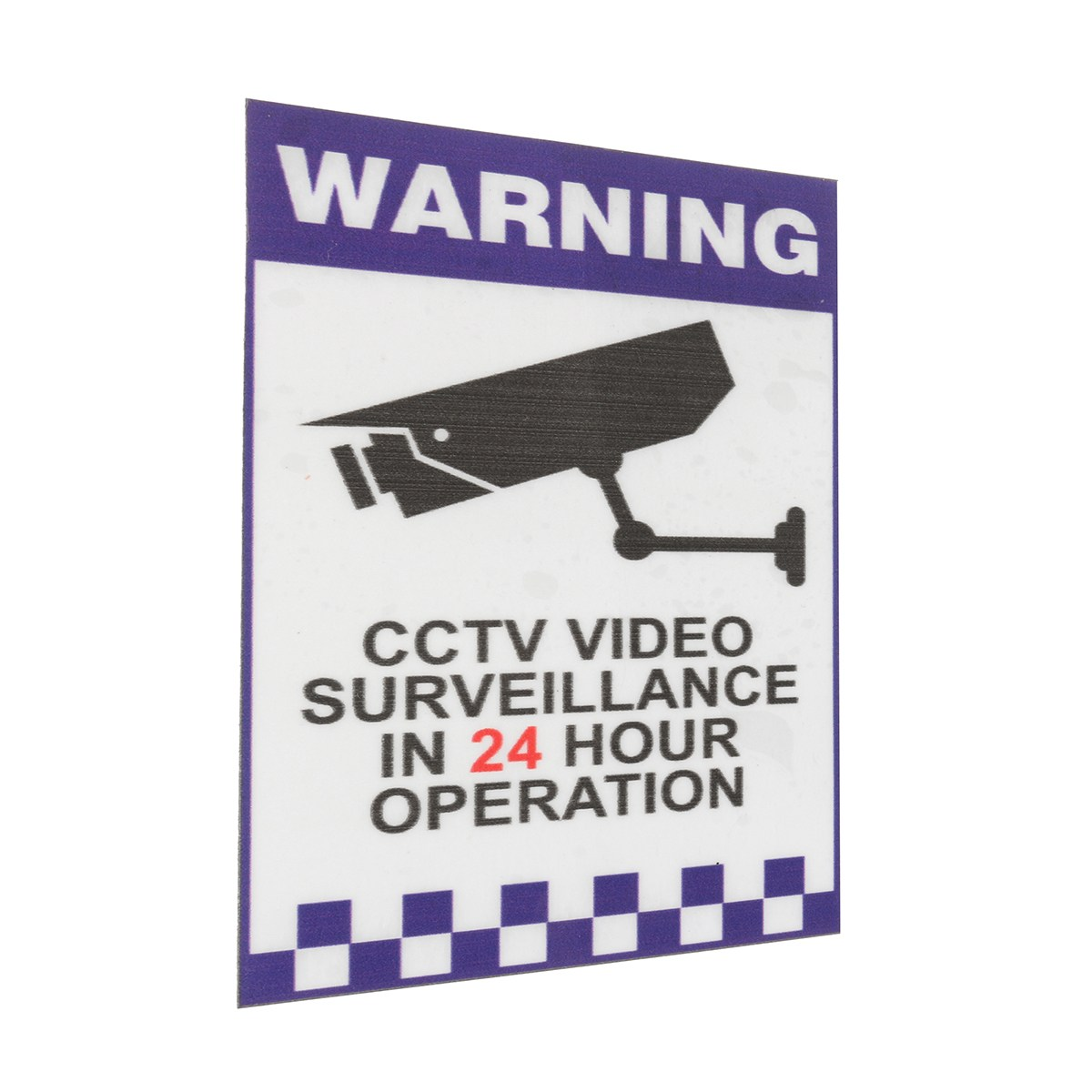 NEW Safurance 24 Hour Internal Warning CCTV Security Surveillance Camera Decal Sticker Sign Home Safety