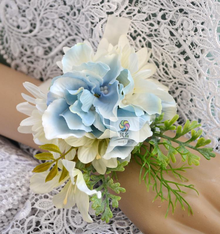 Handmade Wedding Flowers: Handmade Diy Wrist Corsage Artificial Flowers Wedding