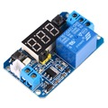 12V LED Digital Display Trigger Time Delay Relay Module 2.0 Version 0 - 999s 0 - 999minutes Module