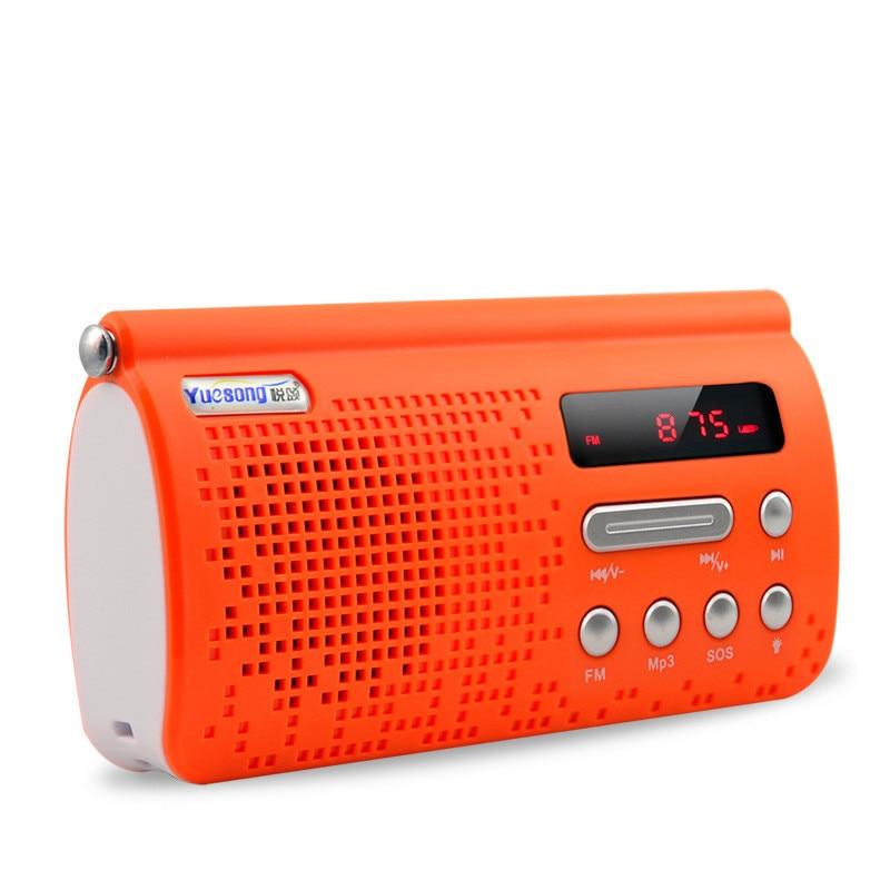 2018 T308 Portable Stero Mini FM Radio Speaker Music Player with TF Card USB AUX Input Flashlight SOS
