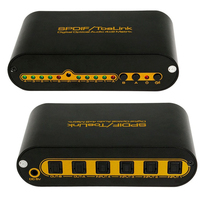 SPDIF TOSLINK Digital Optical Audio True Matrix 4x2 Switcher Switch Splitter 4 In 2 Out Video Converter Remote Control