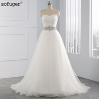 Vestido De Noiva 2016 Elegant Sweetheart Tulle Appliques Lace A Line Wedding Dresses Bridal Gown Bride