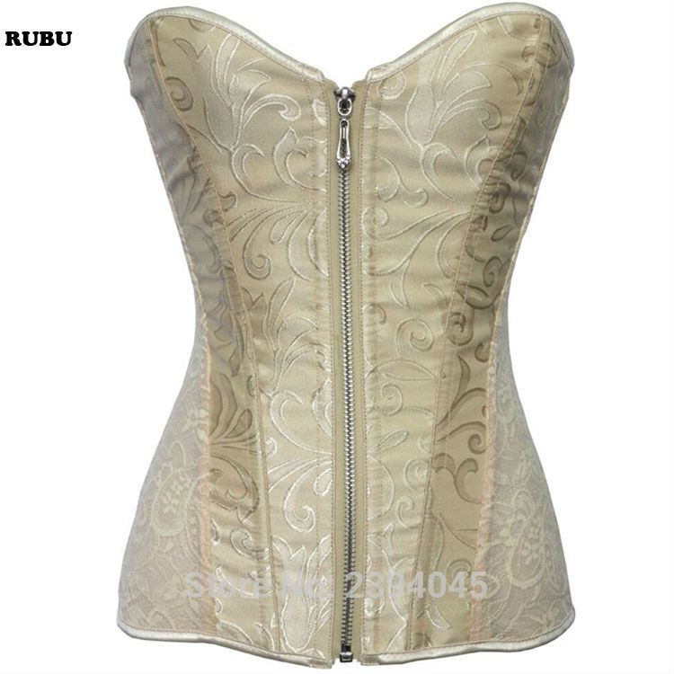 e65510526a Wholesale Breathable Sexy Overbust Satin Bow Palace lace up back waist Bustier  bride Corsets trainer White Black Beige Soild